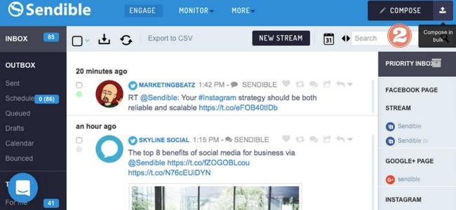 Screenshot showing 'Bulk Compose' button