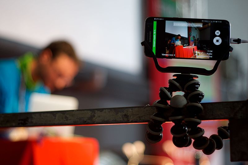 Livestreaming with smartphone