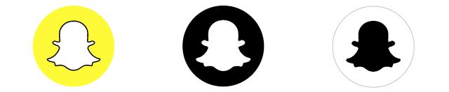 Snapchat logo variations based on background color