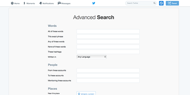 Twitter's advanced search uses Boolean logic
