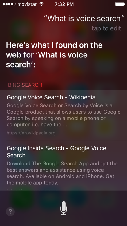 How voice search works in Siri