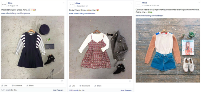 Olive Clothing brand sets a good example for retailers on Facebook