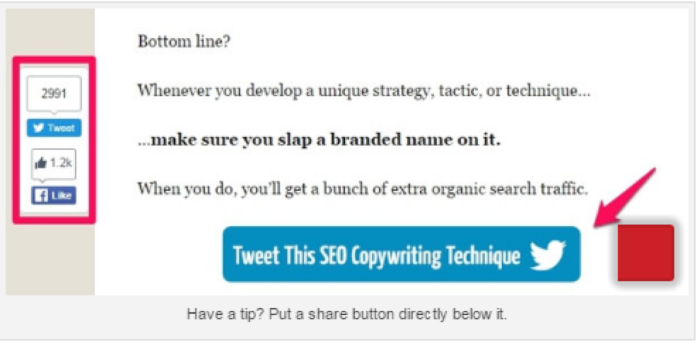 Add tweet buttons to make blogs more shareable