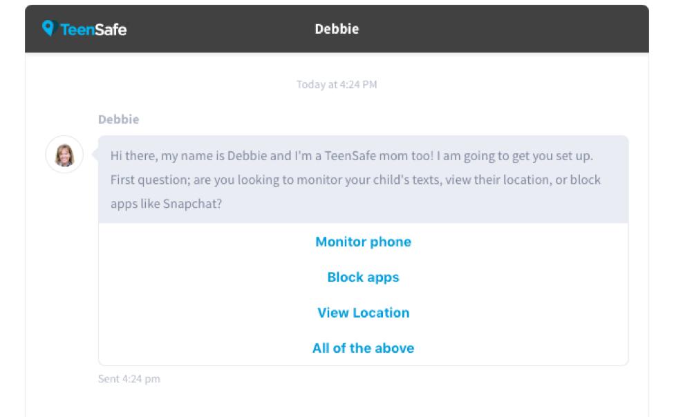 TeenSafe app