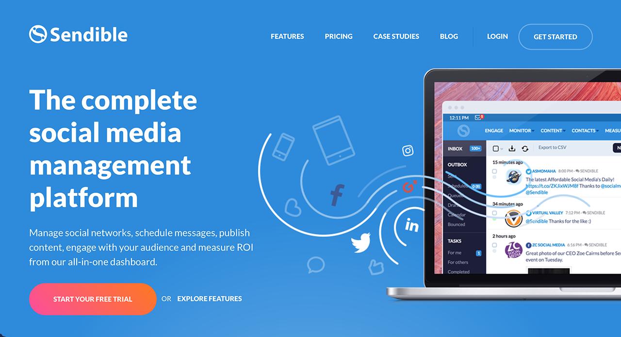 The complete social media management tool for digital agencies - Sendible