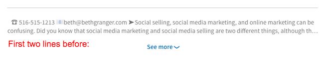 Beth Granger - LinkedIn Profile Summary