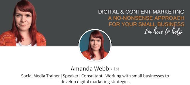 Amanda Webb - LinkedIn Profile