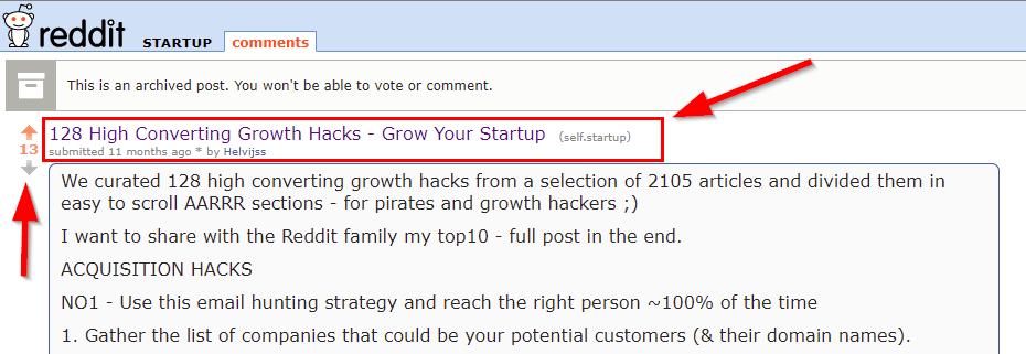 Reddit Tips on Comments