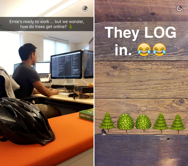Hubspot's Snapchat profile is fun