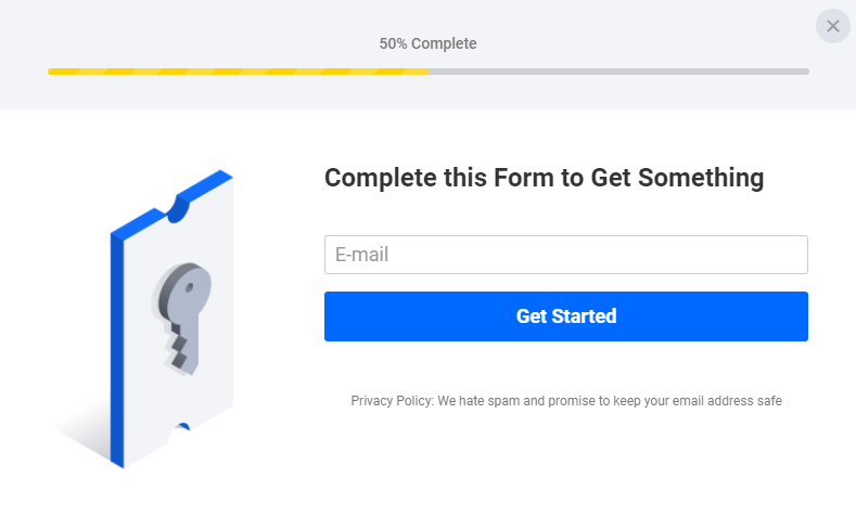 Chatbot pop-ups should ask for an email address