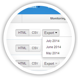 Export the raw data to build your own reports or integrate with other tools.