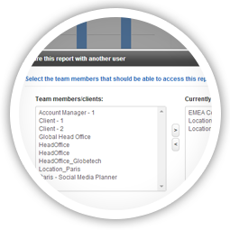 Share reports with team members or clients for group collaboration.