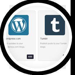 Compose & Publish Blog Posts to<br/>Wordpress, Blogspot & Tumblr
