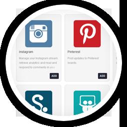 Managing Pinterest, Flickr &<br/>Instagram accounts is a breeze